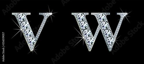 Obraz na plátně Diamond alphabet letters