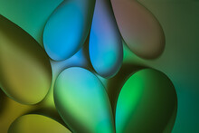 Abstract Multicolored Green An...