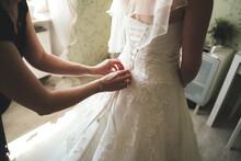 Close Up Of Bridal Corset. Rea...