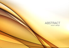 Gold Color Abstract Transparen...