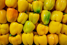 Yellow Bell Peppers In A Pile ...