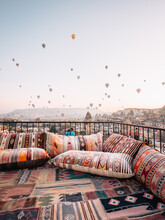 Rooftop Terrace Covered In Tra...