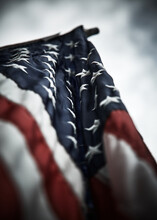An American Flag Close-up On A...