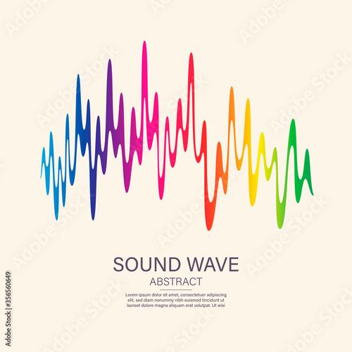 Sound wave equalizer suitable for poster, background or etc Fototapete