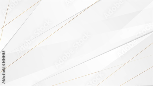 Fotomural Grey corporate background with golden lines