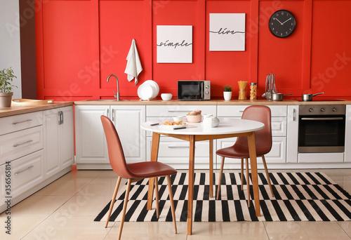 Fototapeta Interior of modern stylish kitchen