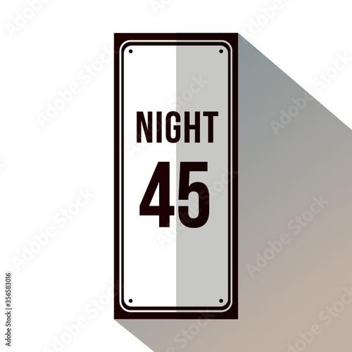 Cuadros en Lienzo Speed limit during night sign.