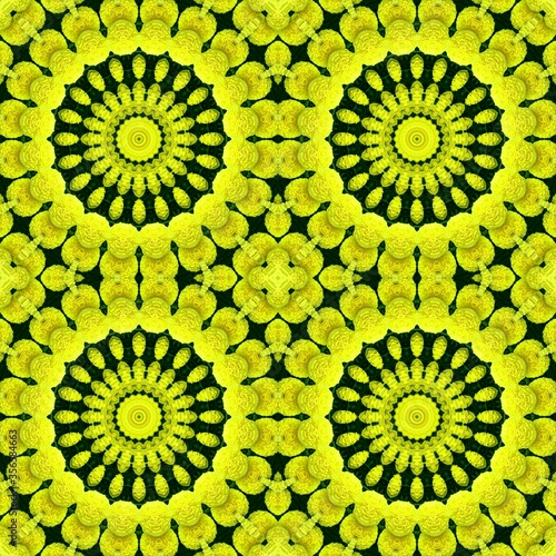 Photo flower summer floral seamless pattern. symmetry nature.