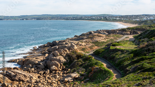 Looking south from Freemans Knob towards knights beach in port elliot south aust Wallpaper Mural