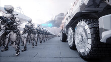 Invasion Of Military Robots. D...