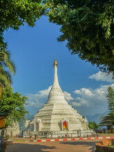 View Of White Pagoda Phra That...