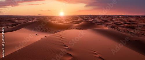 Fotografie, Obraz Sunset panorama in the desert