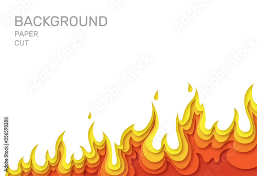Fotografie, Obraz White poster with fire