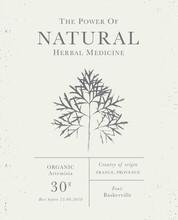 Set Of Labels Of Natural Organ...