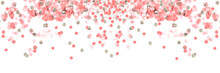 Banner Made From Pink Confetti...