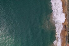 Aerial Drone Bird View Shot Of...