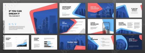 Business powerpoint presentation templates set Fototapet