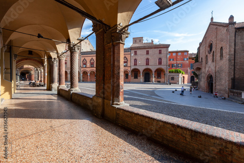 bologna, basilica di santo stefano, le sette chiese, piazza santo stefano, itali Wallpaper Mural