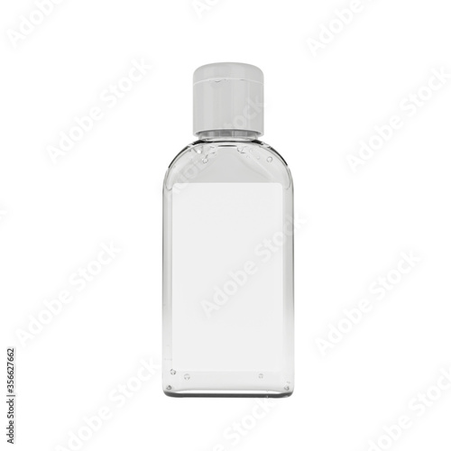 Realistic sanitizer gel bottle with white cap Canvas Print