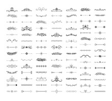 Collection Of Hand Drawn Divid...