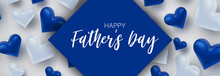 Happy Father's Day Banner. Sim...