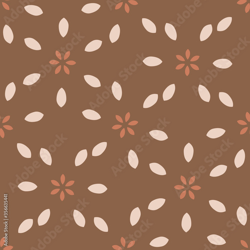 Seamless background folk art flower gender neutral baby pattern Fototapeta