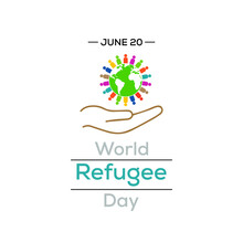 Vector Illustration On The Theme Of World Refugee Day, International Observance Observed On June 20 Each Year, Is Dedicated To Raising Awareness Of The Situation Of Refugees Throughout The World.