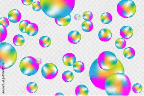 Valokuvatapetti Soap bubbles seamless background.