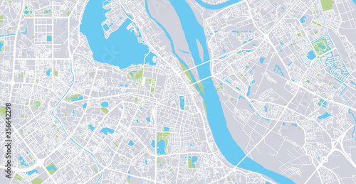 Photo Urban vector city map of Hanoi, Vietnam