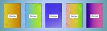 Set Of Color Geometric Backgro...