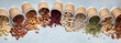 canvas print picture - Different types of Nuts in ecofriendly cups