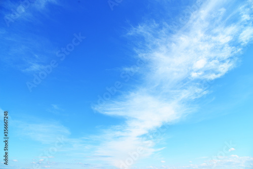 Foto Beautiful sky. Blue sky with somes clouds wallpaper.