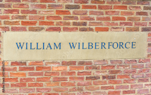 William Wilberforce Wall Sign Canvas Print