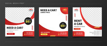 Car Sale And Rental Banner For Social Media Post Template
