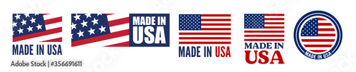 Photographie Made in the USA logo or label. Vector illustration