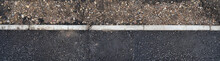 Edge Of Paved Pavement With Di...
