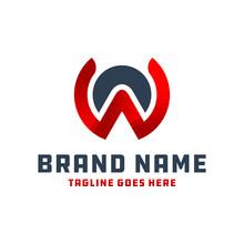 Monogram Logo Letter WA