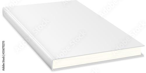 Empty book with white cover.Book Cover Mock up Billede på lærred