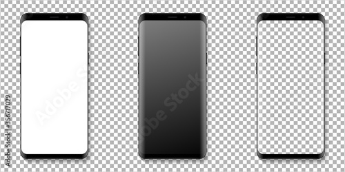 Realistic smartphone display mockup set Fototapete