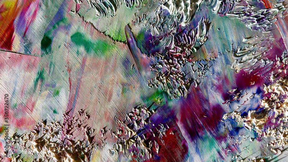 Fototapeta Colorful abstract background wallpaper. Modern motif visual art.  Mixtures of oil paint. Trendy hand painting canvas. Wall decor and Wall art prints Idea.  3D Texture.Colorful abstract