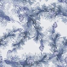 Seamless Pattern Of Pine Tree ...