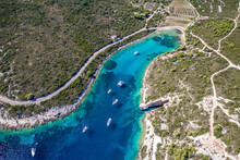 Aerial View Of Boats In Ex. Yu...