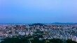 Seoul city and namsan Seoul tower in South Korea.