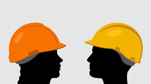 People In Construction Helmets
