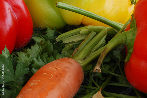 Fototapeta ekologiczne warzywa obraz