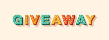 Giveaway Vector Lettering, Typ...