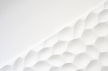 White Wall With A Wavy Texture...