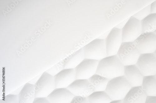 White wall with a wavy texture Fototapet