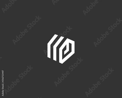 Fotografia Abstract construction building house geometric logo icon design modern illustration