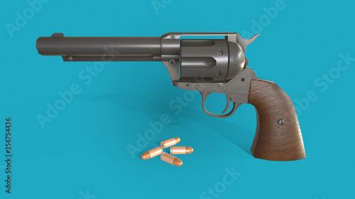 Fotografie, Obraz 3d illustration gun
